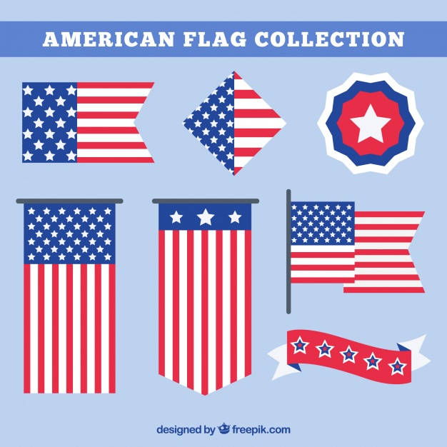 ai american flag collection vector free download pikdone