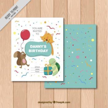 Birthday party design free download pikdone ai animals birthday invitation vector free download stopboris Choice Image