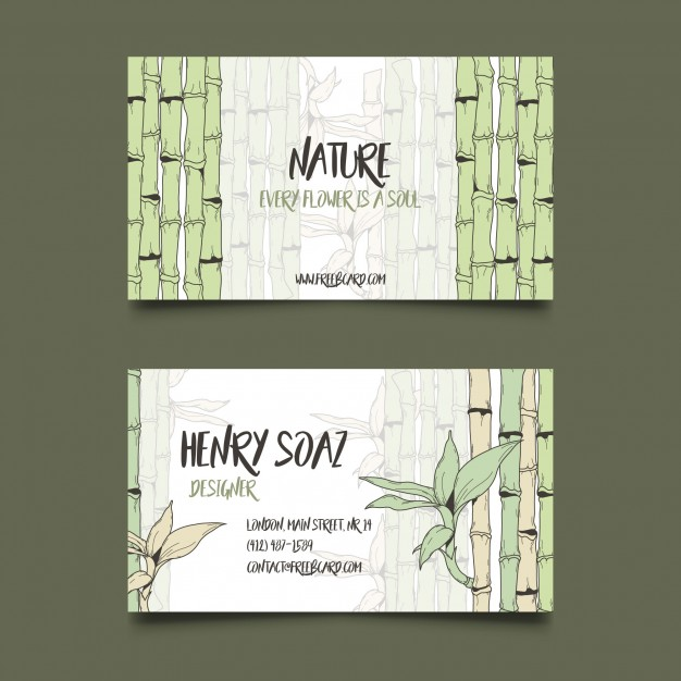 Ai bamboo business card template vector free download pikdone ai bamboo business card template vector free download wajeb Choice Image