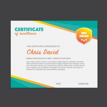 Certificate design free download - Pikdone