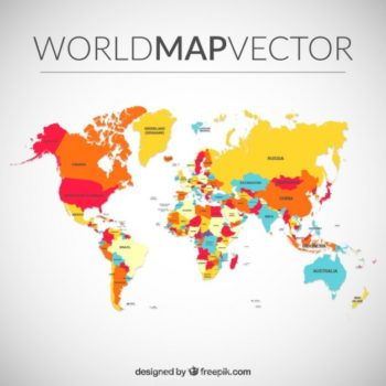 Download free map resources pikdone ai colored world map vector free download gumiabroncs Image collections