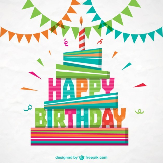 Ai Colorful Happy Birthday Card Vector Free Download Pikdone