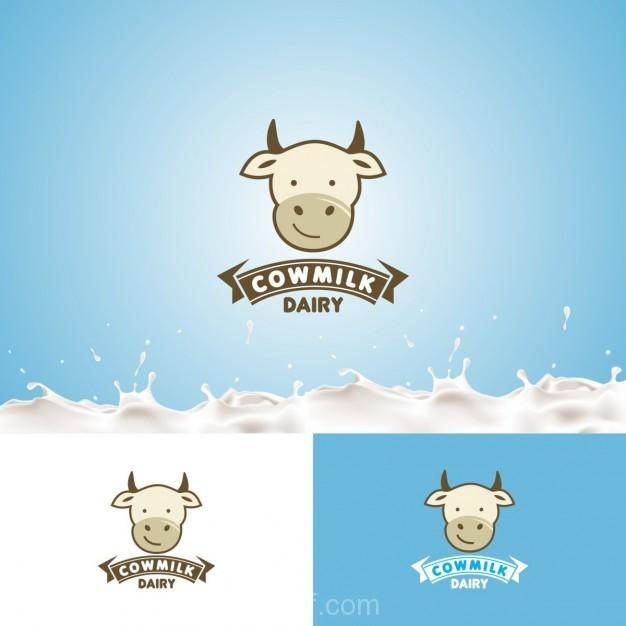 Ai] Cowmilk Logo vector free download - Pikdone