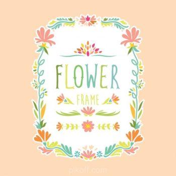 Flower frame design free download - Pikdone