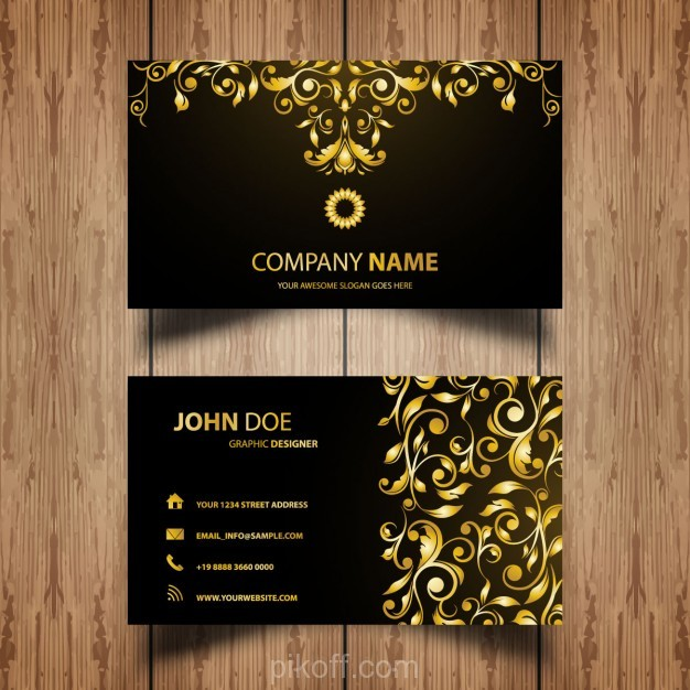 Ai golden business card with luxury ornaments vector free download ai golden business card with luxury ornaments vector free download reheart Gallery