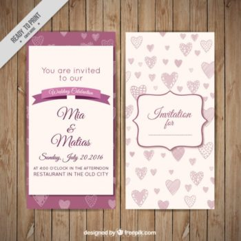 Wedding invitation design free download pikdone ai hand drawn hearts wedding invitation vector free download stopboris