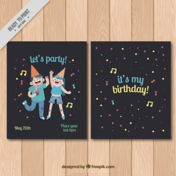 Birthday party design free download pikdone ai happy birthday invitation vector free download stopboris Images