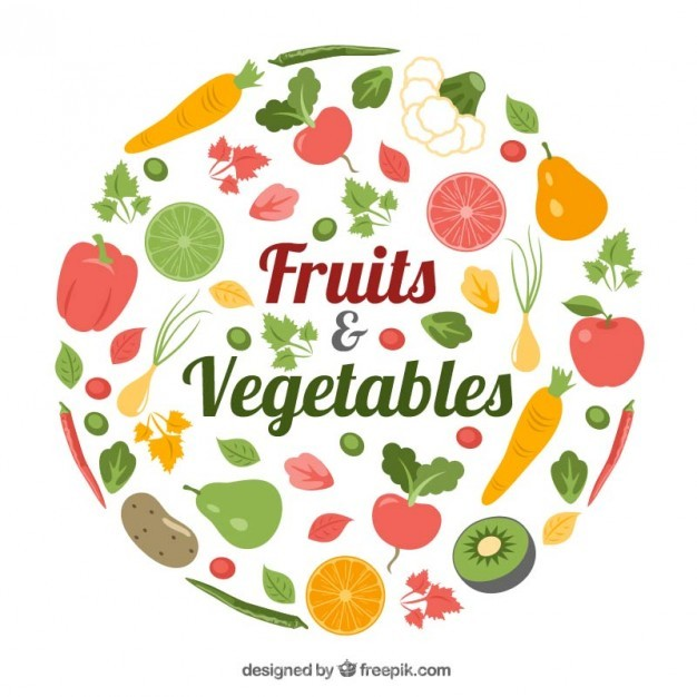 Ai Pack Of Healthy Food With Fruits And Vegetables Vector