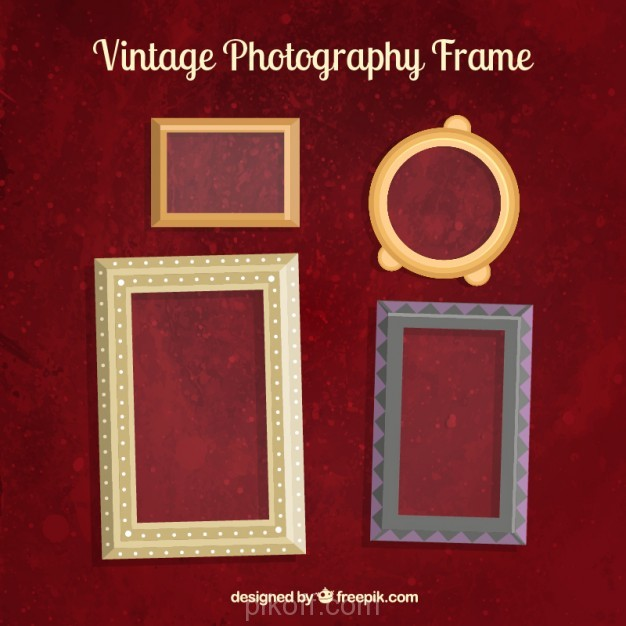 Ai] Vintage photo frames vector free download - Pikdone