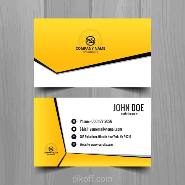 Ai yellow geometric business card template vector free download ai yellow geometric business card template vector free download cheaphphosting Images
