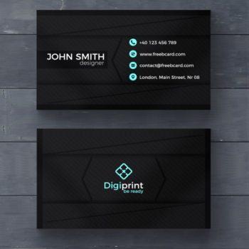 PSD Dark Business Card Template Psd Free Download