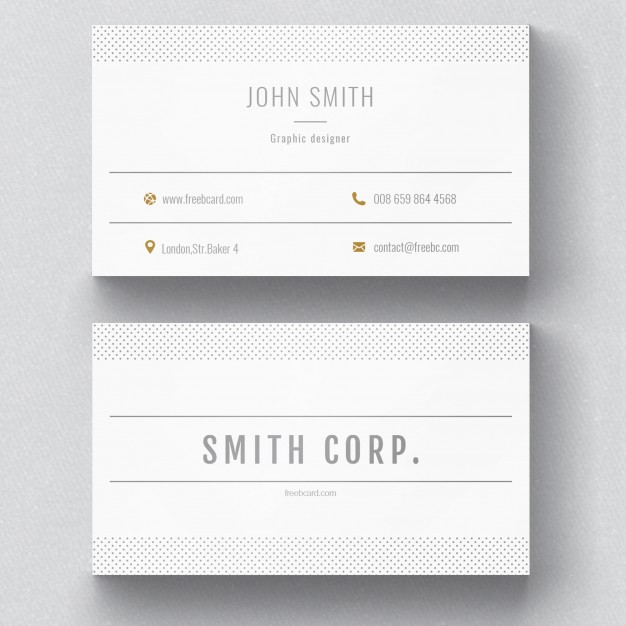PSD White Corporate Card Psd Free Download